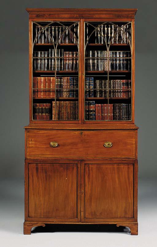 A George III mahogany and line