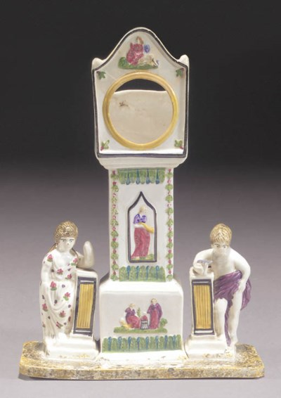 A pearlware watch stand