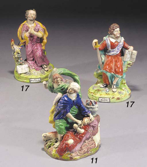 A pearlware group of Abraham a