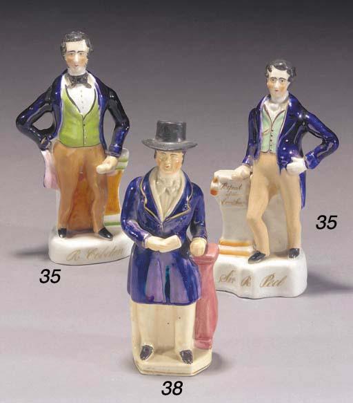 A figure of Sir Robert Peel