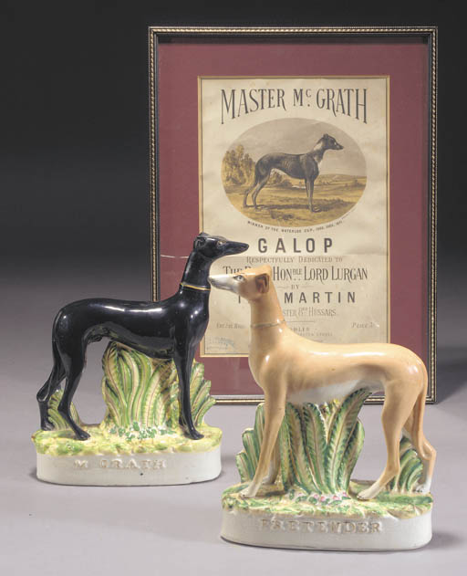 Two models of the greyhounds M