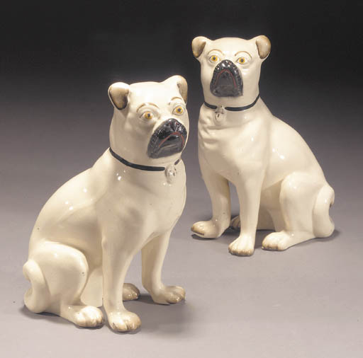 A pair of models of pugs