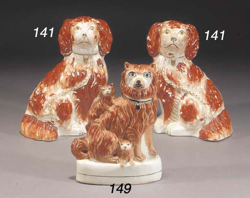 A model of a terrier and pups