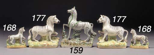 A model of a zebra under attac