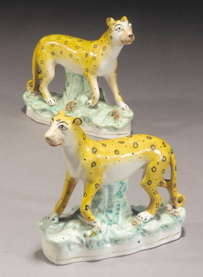Two models of leopards