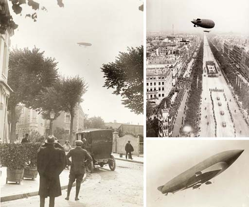 Early French airships, balloon