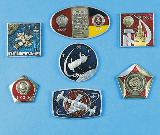 Seven Russian commemorative sp