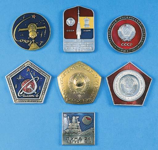 Seven Russian commemorative me