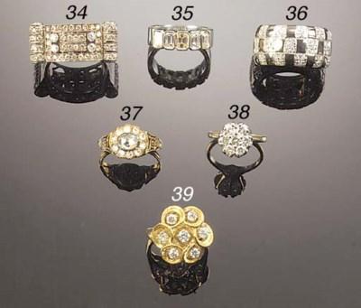 A diamond seven stone ring,