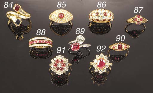 A diamond, sapphire and ruby e