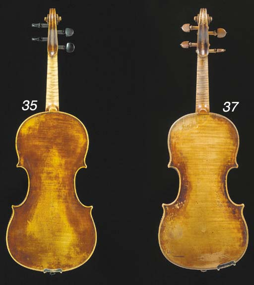 A good Mittenwald violin by Matthias Klotz, labelled Matthias Klotz in Mittenwald/an der Iesu 1719; the two-piece back of faint irregular curl, the varnish of a brown colour, the length of back 14 3/16in (360mm), in case