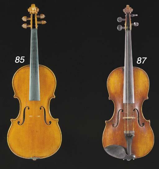 An Italian violin labelled Enr