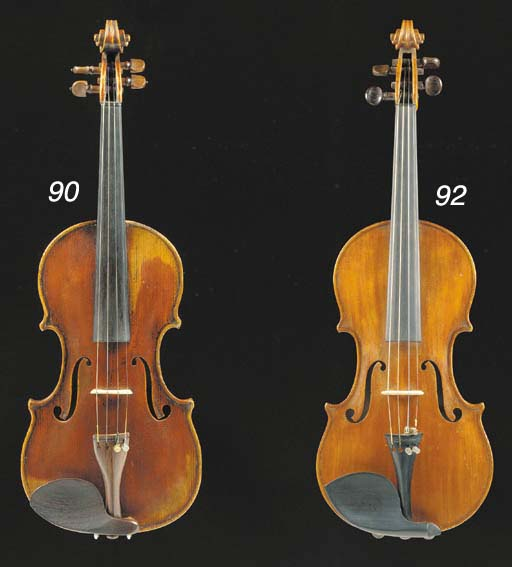 A interesting violin made in t