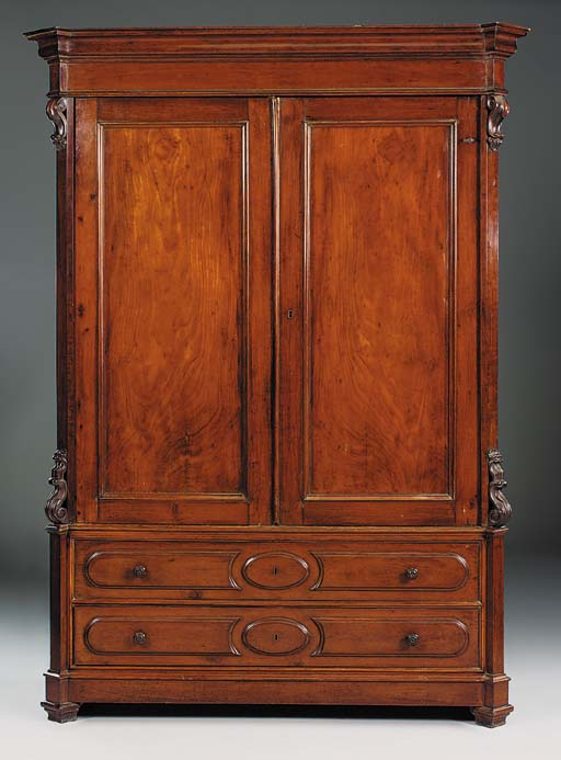 A Napolean III mahogany armoire