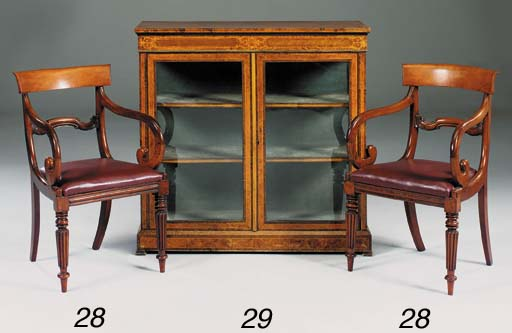 A pair of William IV mahogany