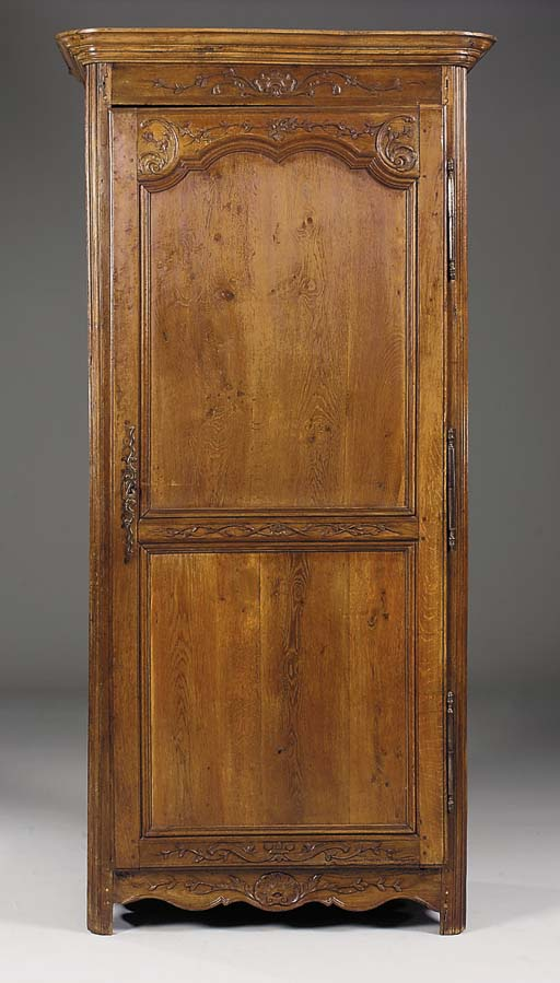 A French provincial oak armoir