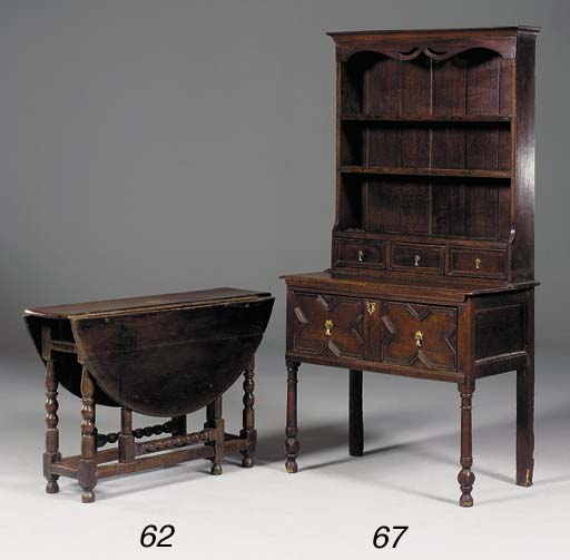 An oak dresser, late 19th/earl