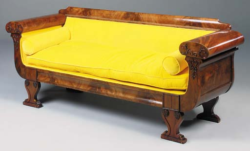 A North European mahogany sofa