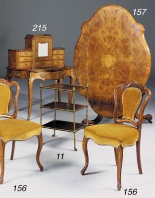 A set of four Victorian walnut