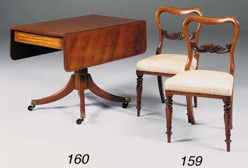 A mahogany pembroke table, par
