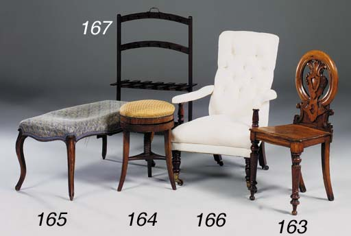A William IV mahogany and whit