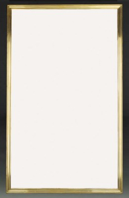 A pair of large brass framed m
