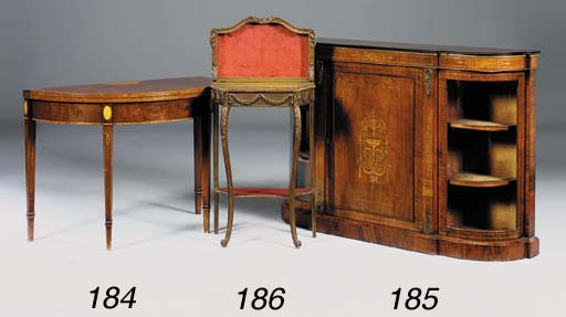 A French giltwood display table, late 19th century