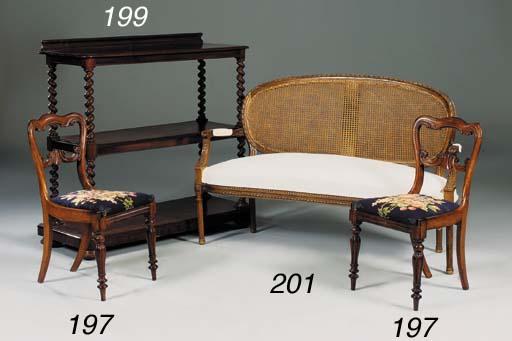 A Victorian mahogany three tie