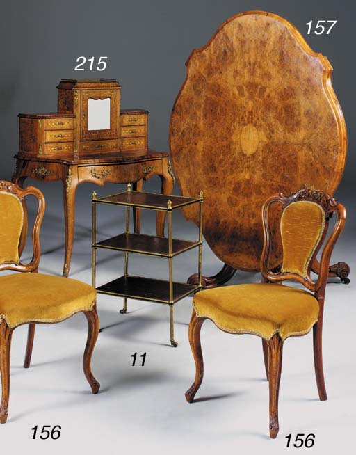 A late Victorian walnut marque