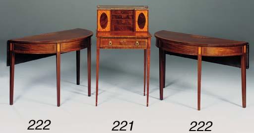 A mahogany and satinwood inlai