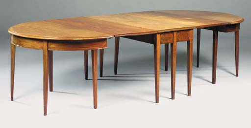 A mahogany and line inlaid D-e