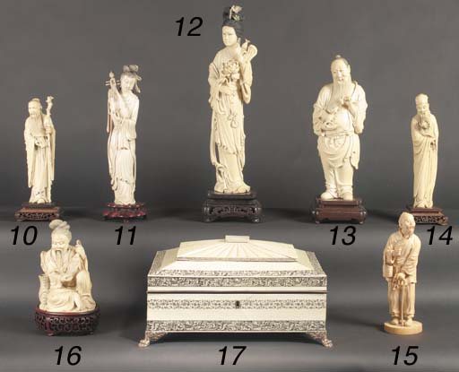 A Chinese ivory figure of a be