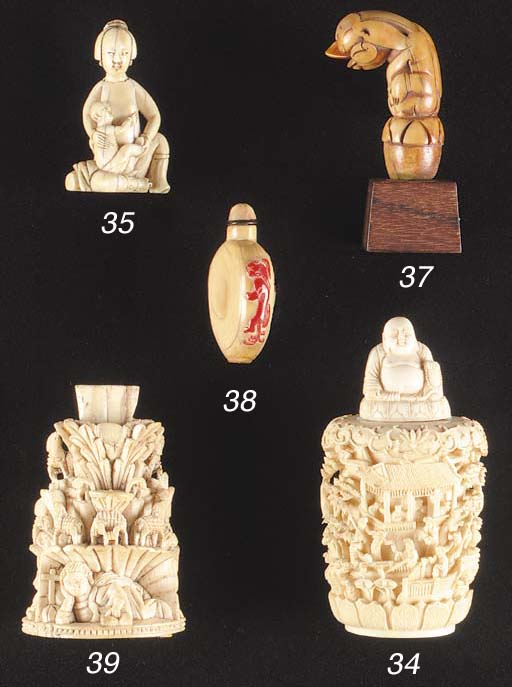 A Goanaese ivory stand 17th/18