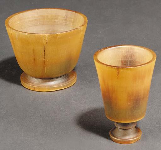 A rhinoceros-horn footed bowl