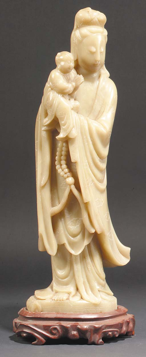 A Chinese soapstone model of G