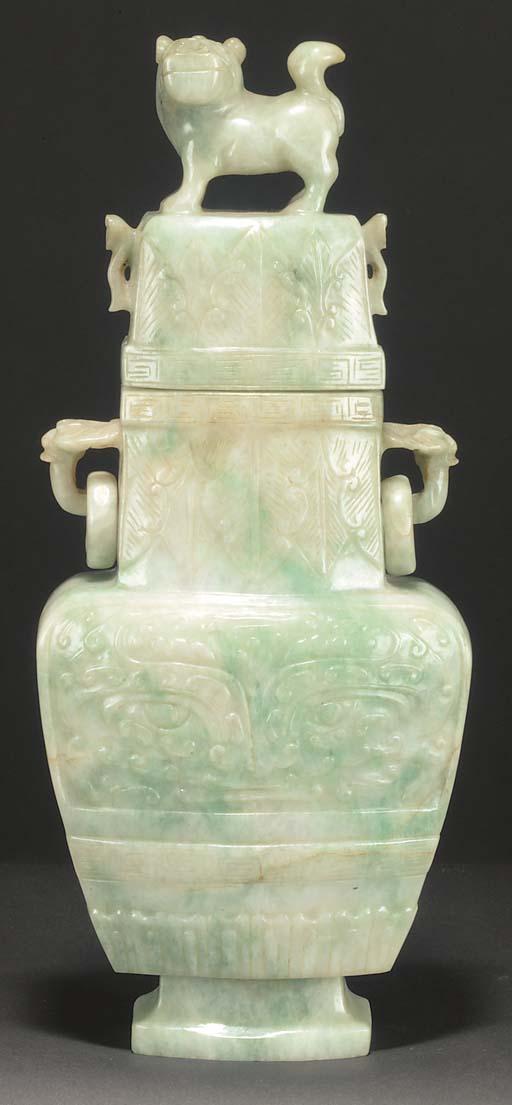 A Chinese jadeite flattened re