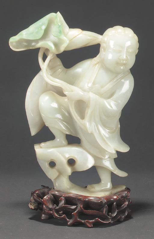 A Chinese jadeite model of a l