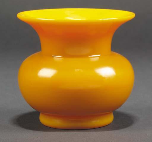 A Peking opaque yellow glass j