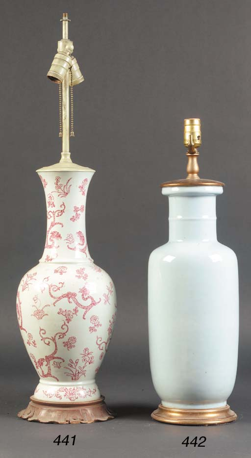 A Chinese baluster vase 19th c
