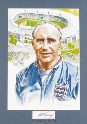 A colour print of Alf Ramsey,