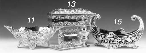 An Edwardian silver-gilt baske