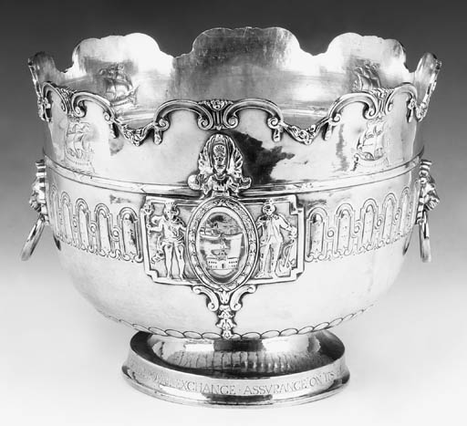 A MODERN SILVER PUNCH BOWL