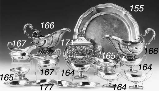 FOUR GEORGE III SILVER SALTS