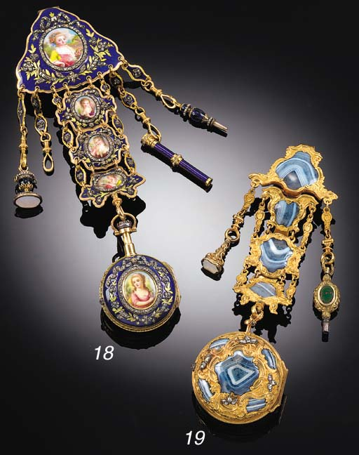 A GOLD, ENAMEL AND ROSE DIAMON