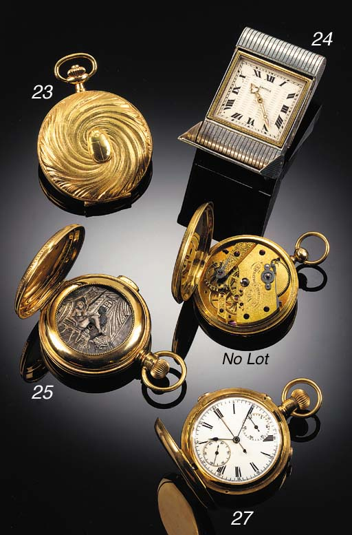 CARTIER, A SILVER AND GOLD FOL
