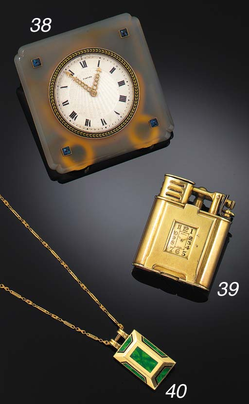 A 14ct. GOLD DUNHILL