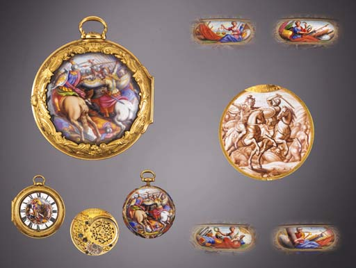 A MAGNIFICENT GOLD, ENAMEL AND