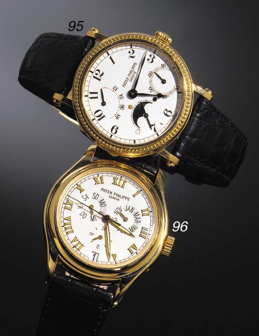A RARE 18ct. GOLD AUTOMATIC WR