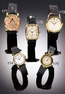 BREGUET, AN 18ct. GOLD RECTANG