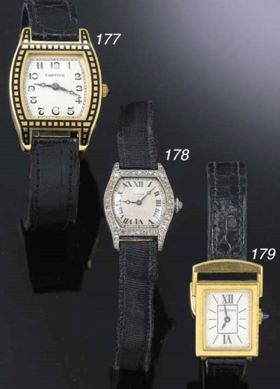 CARTIER, A LADY'S PLATINUM AND